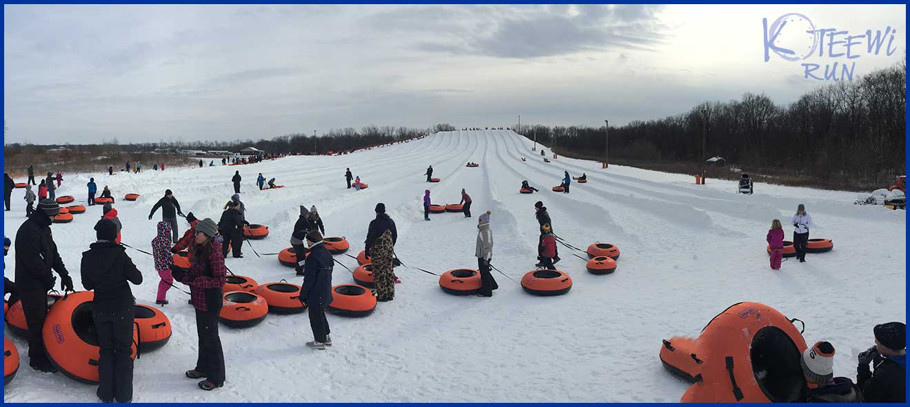 snow tubing in Indiana